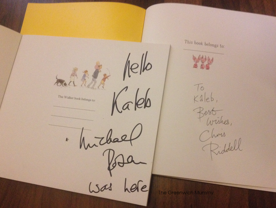 """""""A Great Big Cuddle"""" book reading with Michael Rosen & Chris Ridell 