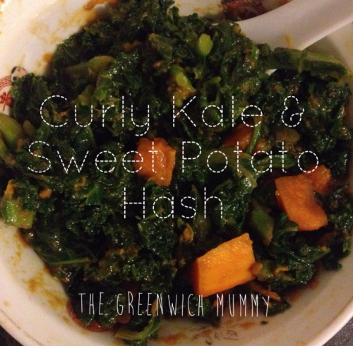 Recipe: Curly kale and sweet potato hash | The Greenwich Mummy