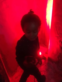 LO enjoying the red glowing light :)