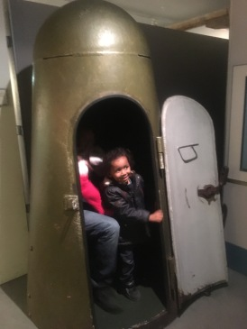 This was a bomb shelter - looks like a giant bell with a door :)
