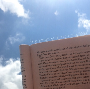 Reading in the sun is bliss!