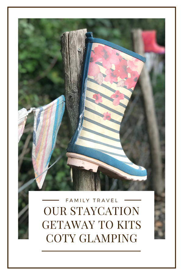 Family staycation at Kits Coty Glamping
